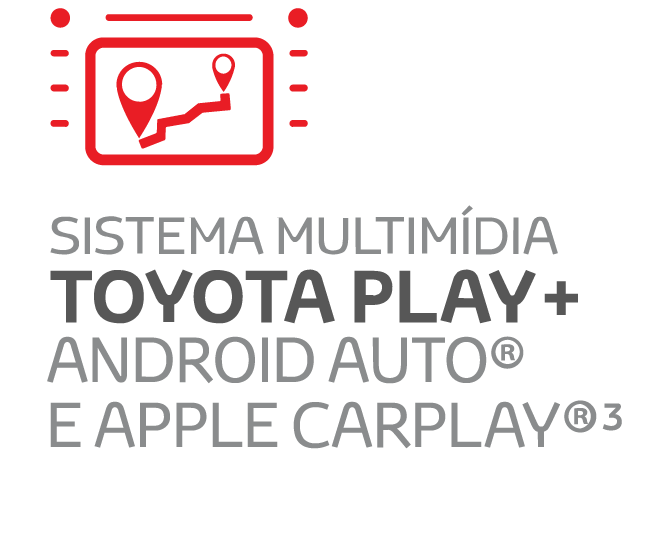 NOVO SISTEMA MULTIMÍDIA TOYOTA PLAY+ ANDROID AUTO E APPLE CARPLAY